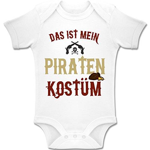 Kostüm 18 Monate Pirat 24 - Karneval und Fasching Baby - Das ist Mein Piraten Kostüm - 18-24 Monate - Weiß - BZ10 - Baby Body Kurzarm Jungen Mädchen