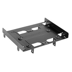 Sharkoon SSD Montagerahmen / Einbaurahmen 5,25 Zoll BayExtension, schwarz für bis zu vier SSDs