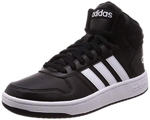 adidas Hoops 2.0 Mid, Zapatos de Baloncesto para Hombre, Negro (Core Black/FTWR White/Core Black Core Black/FTWR White/Core Black), 42 EU