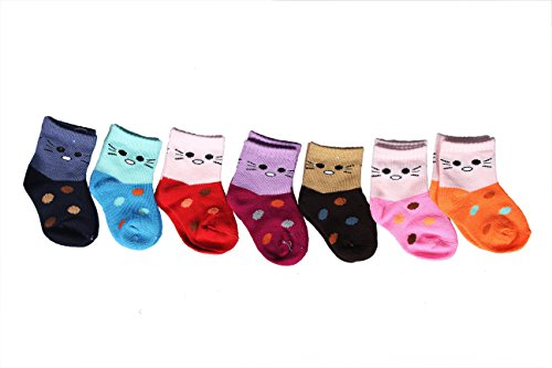 Cosy Baby Socks 7 Piece Set (Best Suitable for 12-24 Months kids)