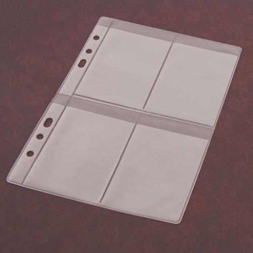 Kalttoy 5 Blatt 3 Arten Scrapbooking Aufbewahrung Stanzen, Transparent Weiß,14cmx19.5cm/5.51inx7.68in (4 Gitter)