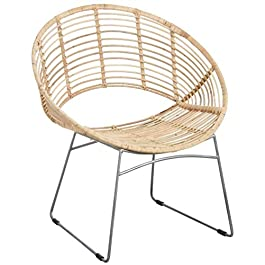 Fauteuil rond rotin