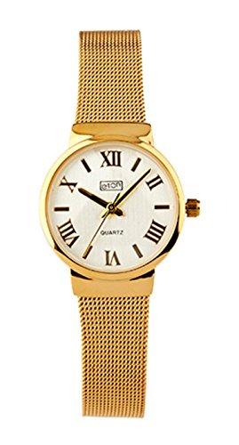 Eton señoras reloj, pulsera de malla. Acabado dorado–3240l-gd