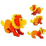 AMUSTER Moda Giocattolo Divertente Educativo Del Giocattolo Divertente Di Legno Di Puzzle Di Mini 3D Di Montessori Regalo Di Legno Variopinto Di Legno (B)