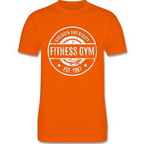 CrossFit & Workout - Fitness Gym Strength and Beauty - Herren Premium T-Shirt Orange