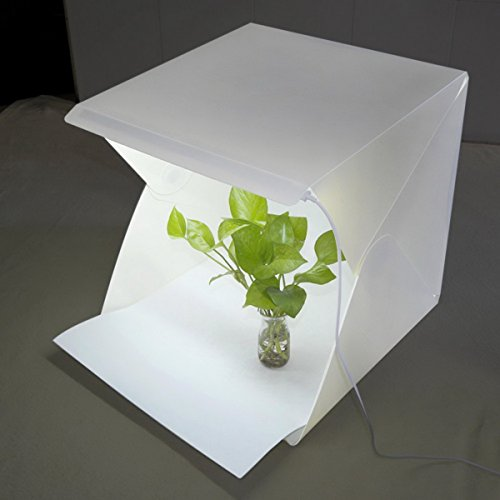 Fotostudio Set, HOUSON mini Fotostudio Lichtzelt Fotozelt Set Lichtwürfel DIY Kleine Folding Produkt Lighting Box Kit mit 20 LED Leuchte...