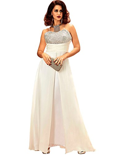 Khwaab Strapless Sweetheart Neck Line Off White Designer Wedding