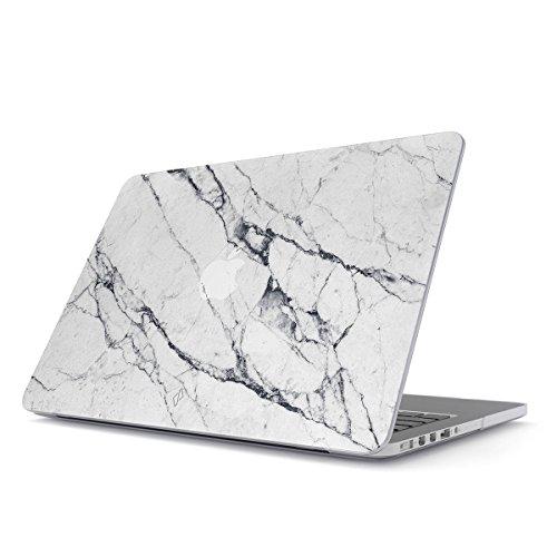 BURGA Hülle Kompatibel Für MacBook Pro 13 Zoll Aus Den Jahren 2012-2015, Modell: A1502, A1425 Retina Display Licht Weiß Marmor Muster White Marble Plastik Case - White Apple Macbook Case