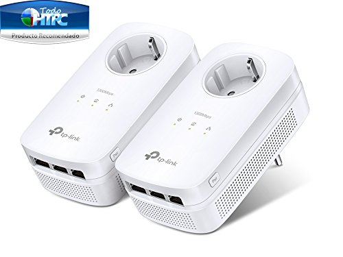 TP-Link TL-PA8030P KIT Powerline Adapter (1300Mbit/s Steckdose Powerline, 3x Gigabit Port, 2*2-MIMO, Plug & Play, energiesparend, kompatibel zu allen gängigen Powerline Adaptern) weiß