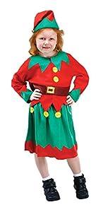 Bristol Novelty CC612 Traje Ayudante de Santa, Verde, Pequeño, Edad aprox 3 -5 años