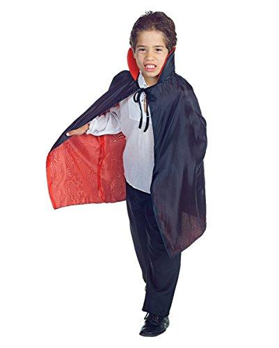 roter Kinder Vampir Halloween Umhang als Kostümzubehör (Graf Dracula Kostüm Kinder)