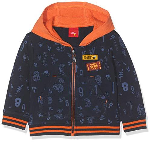 s.Oliver Baby-Jungen 65.909.43.3479 Sweatjacke, Blau (Stratosblau AOP 59a8), (Herstellergröße: 80)