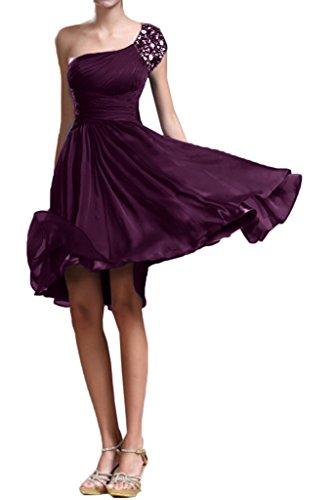 La_mia Braut Royal Blau Kurzarm Steine Abendkleider Cocktailkleider Partykleider Kurz Oberhalb von knie neuheit Traube