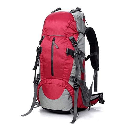 ZCbb Rucksack 50L Wasserdichter Wanderrucksack, Leichter Packbarer Reiserucksack for Outdoor, Trekking Leichter Packbarer Reiserucksack (Color : Red) -