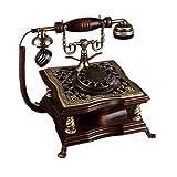 Retro Telefon FJH Kreative Massivholz Metall Rotierenden Doppel Ringtone Rural Mode Europäischen Home Office 22 cm * 23 cm * 25 cm