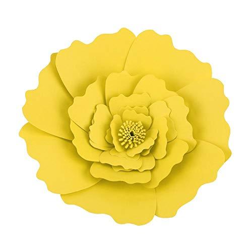 Zerodis fiori di carta, fiori pompon di carta, perfetti per decorazioni di nozze, feste di compleanno, decorazioni per pareti, baby shower(giallo)