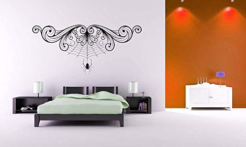 Süße Spinne Mit Wirbel Wandaufkleber Home Halloween Urlaub Special Decor Vinyl Wandmalereien Abnehmbare Aufkleber Wm 45x96 cm