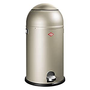 Wesco Liftmaster Waste Bin, Steel, Nickel Silver, 34.6 x 34.6 x 71 cm