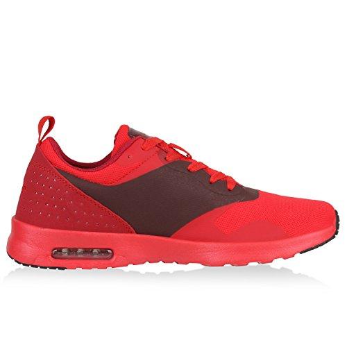 Damen Herren Laufschuhe Profilsohle Sportschuhe Fitness Turnschuhe Rot Brooklyn