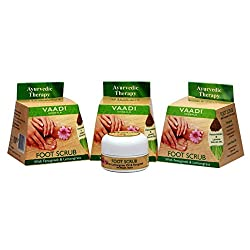 Vaadi Herbals Value Foot Scrub with Fenugreek and Lemongrass Oil, 30gmsx3