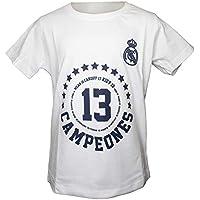 Camiseta Infantil Conmemorativa Real Madrid Kiev 2018-13 Champions - Blanca (10 años)