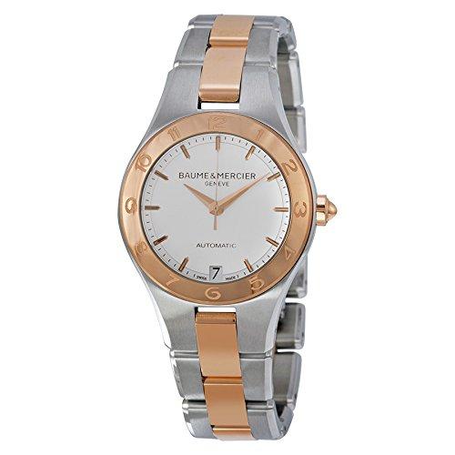 Baume et Mercier Edelstahl Mercier Damen Baume Weiß Linea Stahl Uhr 18kt Rose Gold Zifferblatt und und
