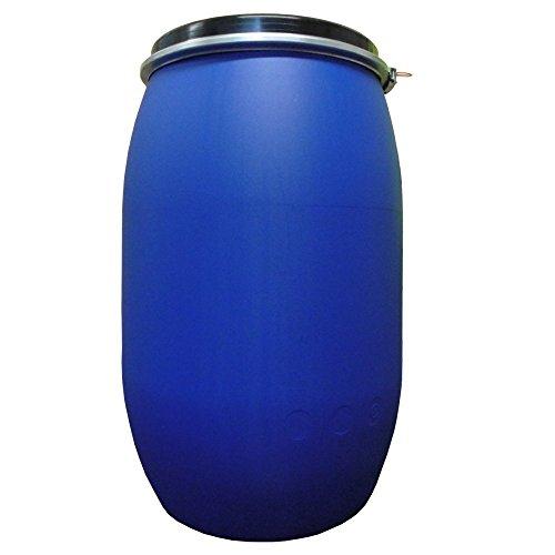 220 L, Ltr, litri, in plastica, colore: blu, fusto lungo, per porta, con anello di fissaggio per alimenti, per Approvato U.N solidi e spedizione gratuita