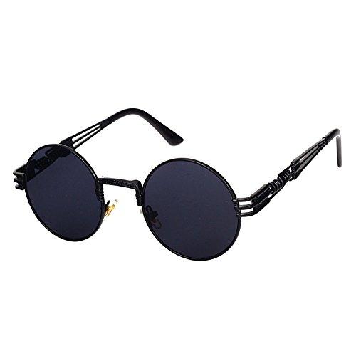 Highdas Steampunk Punk Rock Shades Vintage Runde Sonnenbrille C1