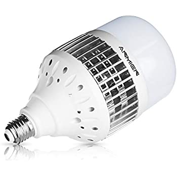 Bombillas LED E27 50W (Equivalente a 450 vatios), Blanca Fria 6000K No Regulable,Bombillas LED de 4000 Lumens 1-Pack