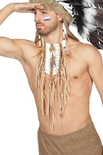 Kostüm Brustpanzer Indianer - Wilbers Kostüm Zubehör Halskette Indianer Brustschmuck Karneval Fasching