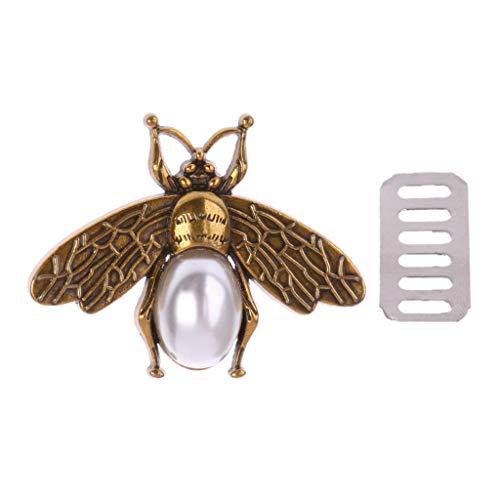 Biene Messenger (Umhängetasche aus Metall, niedliche Bienen-Form, Dekoration für DIY Schultertaschen Casual Tote Messenger Zubehör)