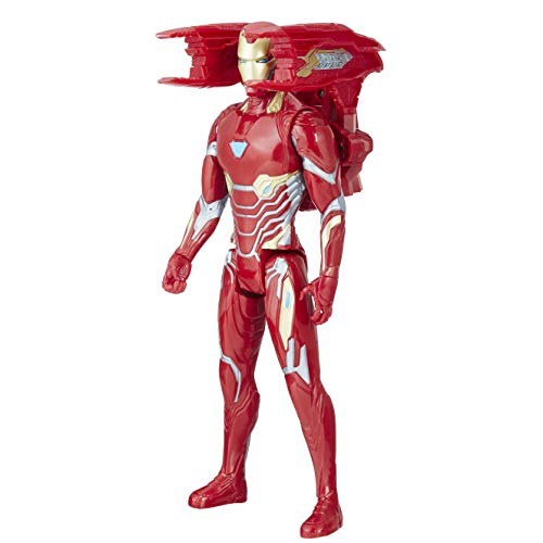 6EW0 Avengers Titan Hero Iron Man mit Power FX Pack, Actionfigur, rot ()