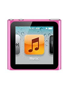 Apple iPod Nano 8GB Flash Drive with 1.54-inch Colour Multi-Touch Display and FM Radio (Pink) - 6th Generation