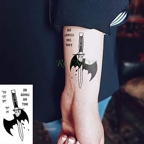 ljmljm 6 Pezzi Adesivo Tatuaggio Impermeabile Tatoo Squadra Joker Tatto Body Tatuaggi per Bambini Ragazza Donna Mena Kaki Scuro 10,5x6 cm