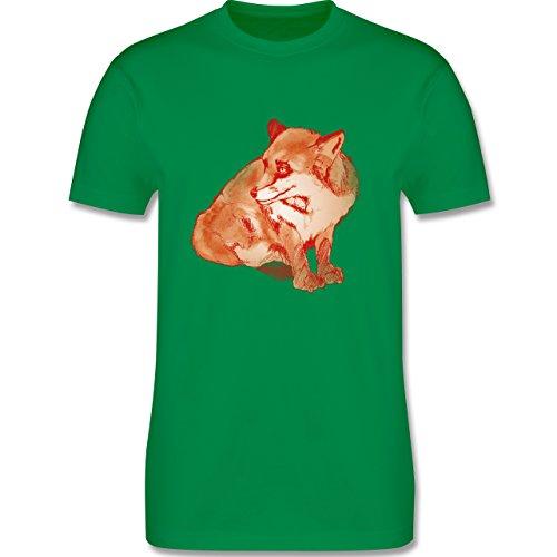 Eulen, Füchse & Co. - Fuchs Süss Zeichnung - Herren Premium T-Shirt
