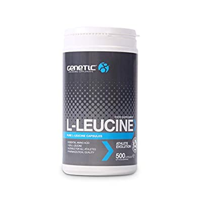 Genetic L-Leucine (500 caps) - Anabolic Muscle Fuel Supplement - Protein Synthesis Booster - 500 Amino Acid Capsules by Genetic Supplements
