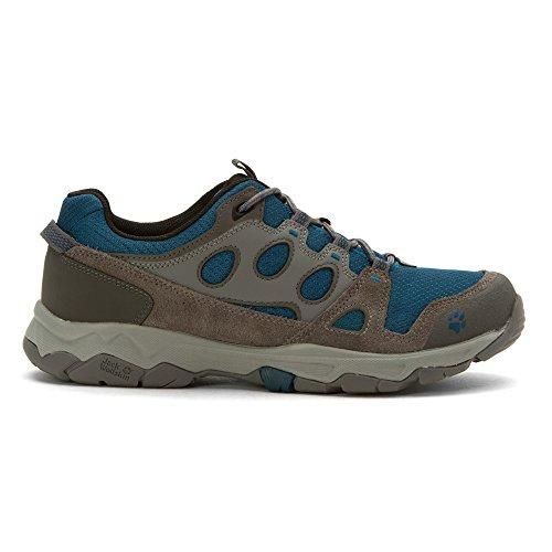 Jack Wolfskin MTN Attack 5 Low - Chaussures de randonnée Homme - gris/bleu 2016 chaussures de montagne Moroccan blue