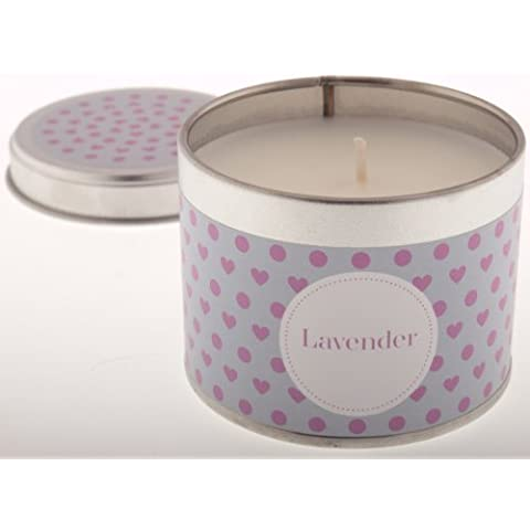Pintail Candles-Candela in scatola di latta, motivo: