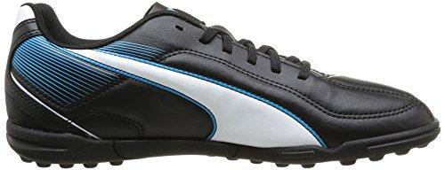 Puma Esquadra TT Jr Unisex-Kinder Fußballschuhe Schwarz (black-white-scuba blue 01)