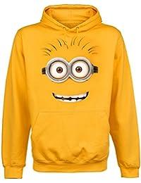 Gru 2, mi villano favorito - sudadera con capucha de minion de ojos saltones - algodón - amarilla - L