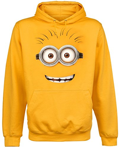 Despicable Me Hooded Fleece with Minions Design Official Product Cotton Yellow
