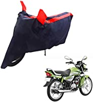 Mototrance Sporty Arc Blue Red Bike Body Cover for Hero HF Deluxe Eco