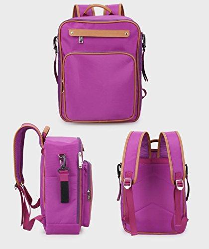 Protezione ambientale multifunzionale leggero della borsa della mummia impermeabile impermeabile dello zaino di modo di formato sacchetti di risvolto del sacchetto del bambino , purple Purple