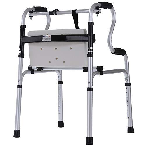 CCJW Andador Plegable Anciano Auxiliar Aluminio Placa