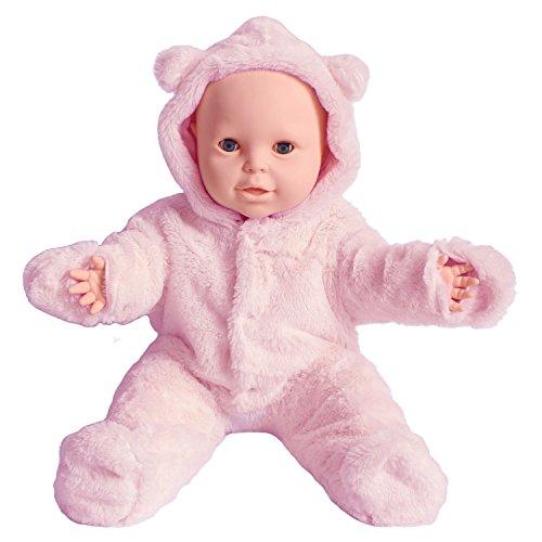 SUOLANDUO Pink Baby Body/Einteiler mit Plüsch Und Innenfutter mit Webpelz Jersey -Fauc Schneeanzug, Größe - 6month, 9month, 15month