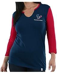 "Houston Texans Women's Majestic NFL ""Game Legend"" 3/4 Sleeve V-Notch shirt Chemise"