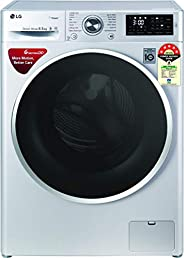 LG 6.5 Kg 5 Star Inverter Fully-Automatic Front Loading Washing Machine (FHT1265ZNL, Luxury Silver, 6 Motion D