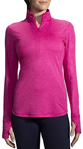 Brooks Damen Dash 1/2 Reißverschluss XS Grau (Heather Bloom) -