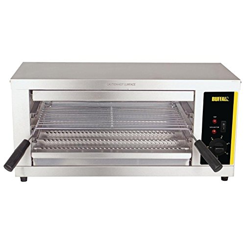 41IkqOQN9yL. SS500  - Buffalo Electric Quartz Grill 302X643X386mm Stainless Steel Barbecue Griddle