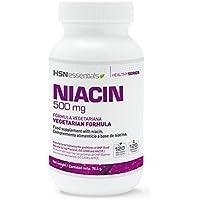 Niacina (Vitamina B3) 500mg de HSN Essentials - Fórmula de liberación inmediata de Nicotinamida - 120 cápsulas.